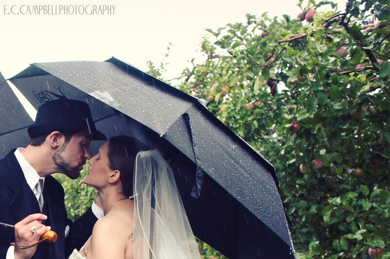 Rainy Wedding Photography