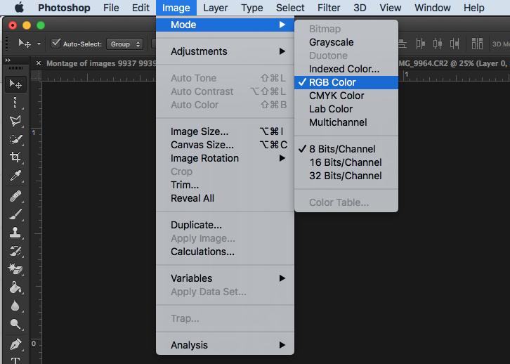 Photoshop Color Adjustment
