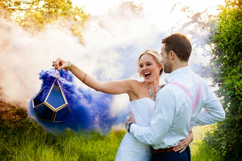 Capturing Smoke Bombs Wedding Photography