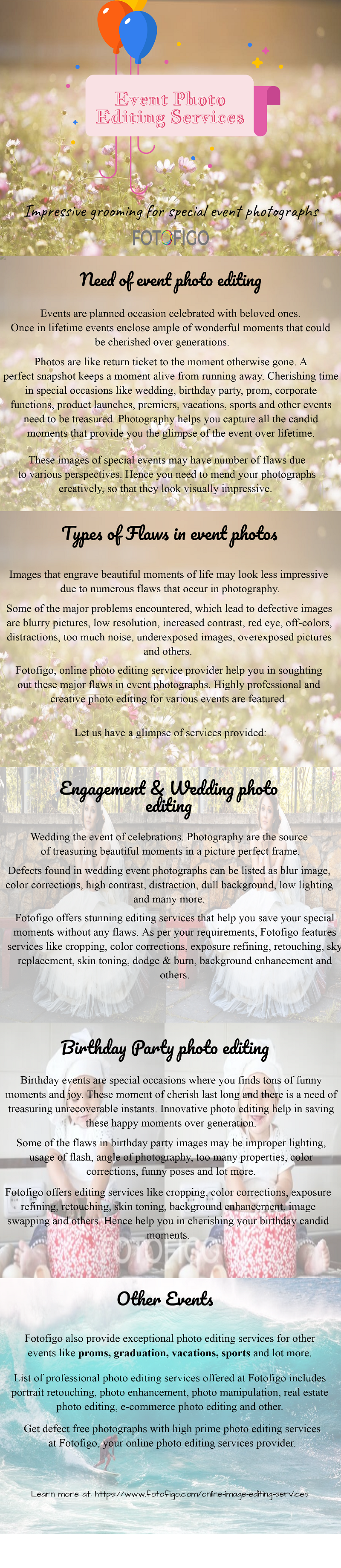 Event Photo editing services