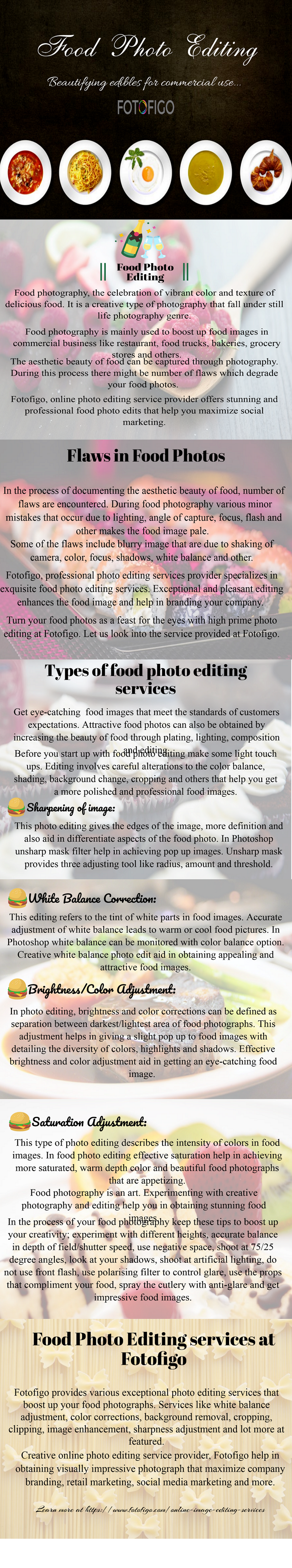 Food Photo Editing Services