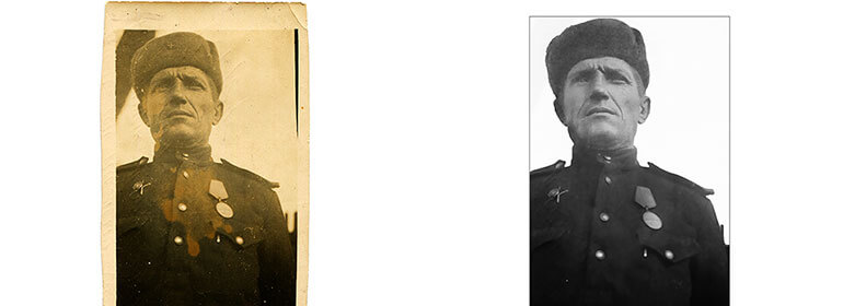 Photo Restoration and Repair Retouching